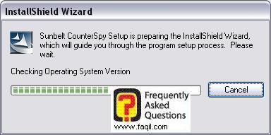 טעינת ממשק ההתקנה ,לתוכנת האנטי רוגלה counterspy