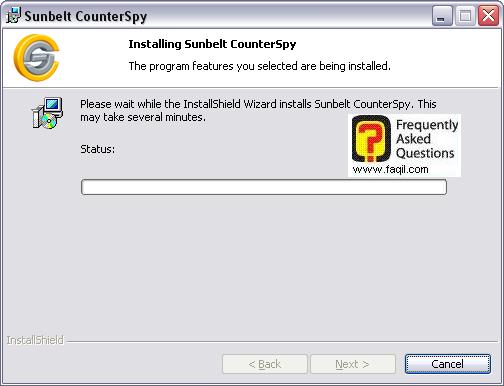 ההתקנה תחל,לתוכנת האנטי רוגלה counterspy