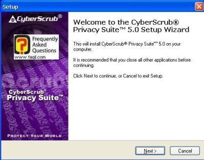 מסך ברוכים הבאים,CyberScrub Privacy Suite