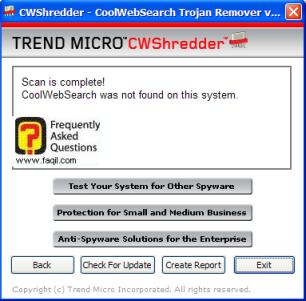 הסריקה הושלמה, Cwshredder