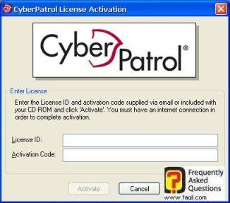 הקשת קודי הרישיון, תוכנת  CyberPatrol