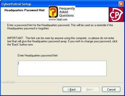 מילה לזכירת הסיסמא, תוכנת  CyberPatrol