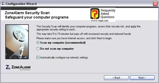סריקה אחר מצב האבאחה של התוכנות המותקנות במחשב,מרכז האבטחה zone alarm