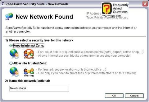 רמת האבטחה ברשת,מרכז האבטחה zone alarm