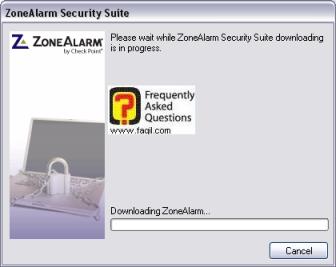 מסך תחילת הורדת ההתקנה,מרכז האבטחה zone alarm