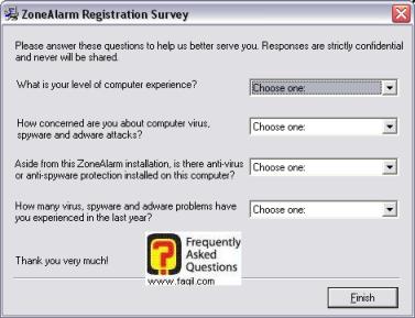 חלון סקר,מרכז האבטחה zone alarm