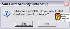 ההתקנה הושלמה,מרכז האבטחה zone alarm
