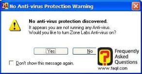 בחרו בכן כדי שיעבוד,ZoneAlarm Anti-Virus