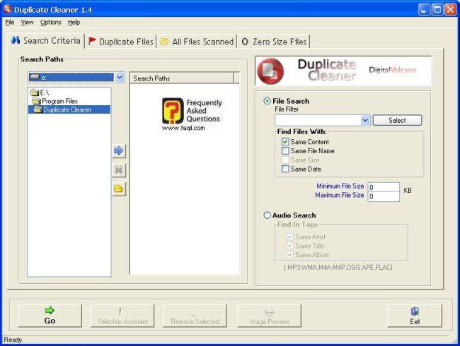 בחרו את התיקיה הרצויה לבדיקת קבצים כפולים,תוכנת Duplicate Cleaner