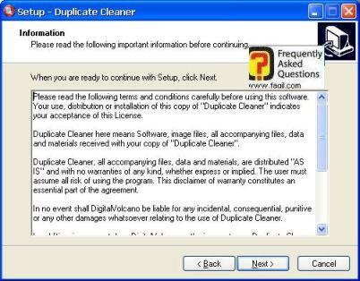 מסך הסכם הרישוי בהתקנה,תוכנת Duplicate Cleaner