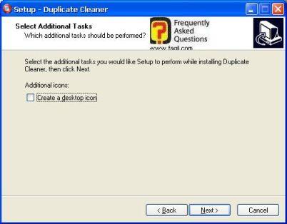מסך קיצור דרך לשולחן העבודה,תוכנת Duplicate Cleaner