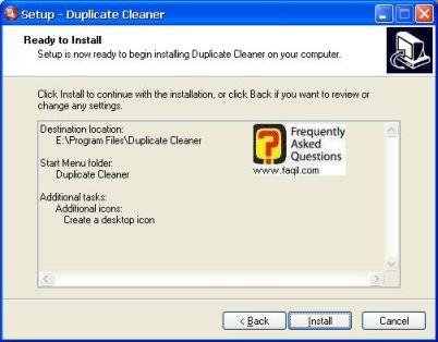 מסך  קרא לפני התקנה,תוכנת Duplicate Cleaner