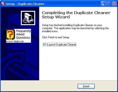 ההתקנה הסתיימה,תוכנת Duplicate Cleaner