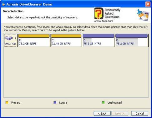 בחרו את הכונן המתאים לכם,תוכנת  DriveCleanser