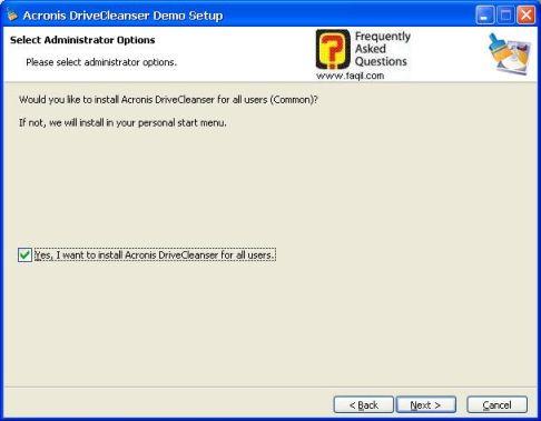 מסך שייופיע התוכנה בכל שמות המשתמש במחשב  ,תוכנתDriveCleanser