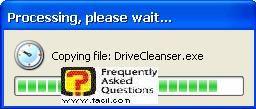 ההתקנה החלה,תוכנתDriveCleanser