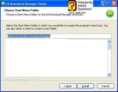 תפריט מהיר, EA Download