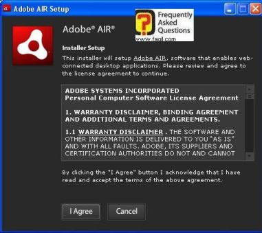 הסכם רישיון adobe air, EA Download