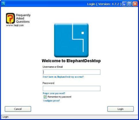 הפעלת ElephantDrive