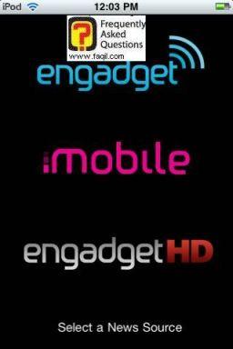 חלון ראשי, אפליקציית Engadget