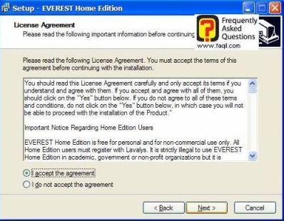 מסך הסכם השימוש, Everest Home Edition