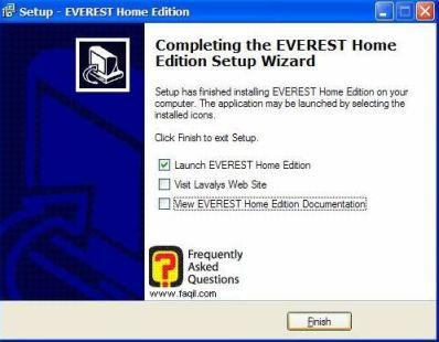 ההתקנה הסתיימה, Everest Home Edition