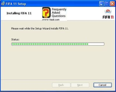 ההתקנה החלה,fifa 11 (פיפ