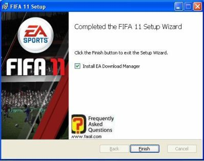 ההתקנה הסתיימה,fifa 11 (פיפ