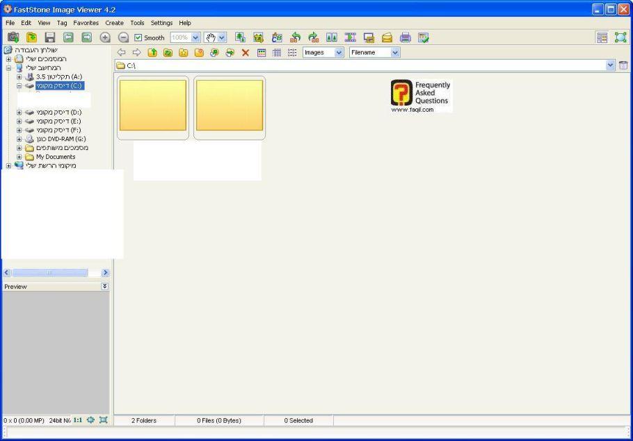 התוכנה לאחר עלייתה-FastStone