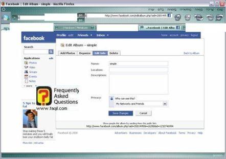 חזרה לחלון הראשוני, פייסבוק