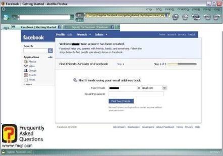 חיפוש אחר חברים, פייסבוק