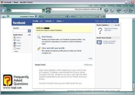 המסך הראשי, פייסבוק
