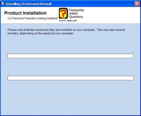 ההתקנה החלה,CA Personal Firewall