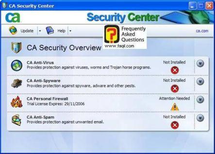 בחרו את חומת האש ,CA Personal Firewall