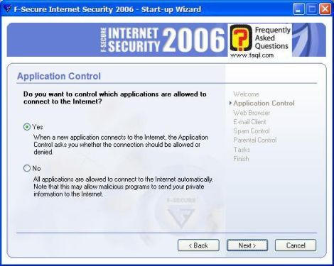 מסך אישור חיבור לאינטרנט אוטומטי,מרכז  האבטחה F-Secure
