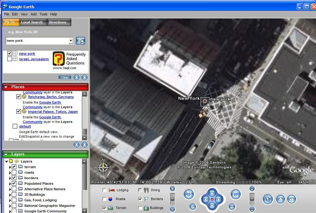 ניו יורק, ב Google Earth