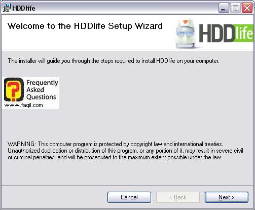 מסך ברוכים הבאים להתקנה, HDDlife