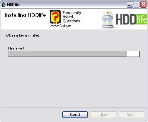 מסך  ההתקנה החלה, HDDlife