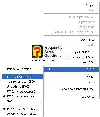 קידוד, דפדפן internet explorer