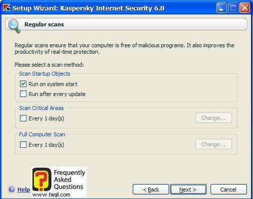 התוכנה תפעל בכל הפעלה של המחשב, Kaspersky Internet Security 6