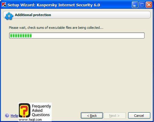 התוכנה תבדוק מספר דברים, Kaspersky Internet Security 6