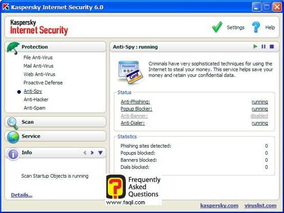 הגדרות אנטיספאם, Kaspersky Internet Security 6