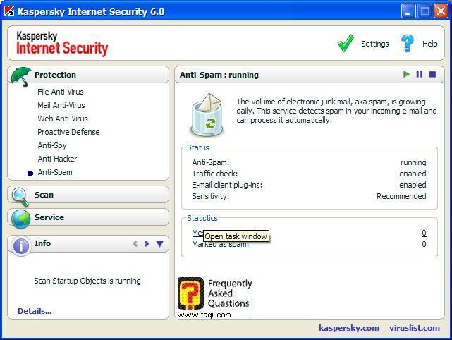 אנטי האקר: התהליכים שנחסמו להתקפה, Kaspersky Internet Security 6