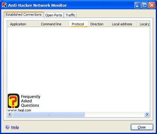 חיבורים מאושרים,  Kaspersky Internet Security 6
