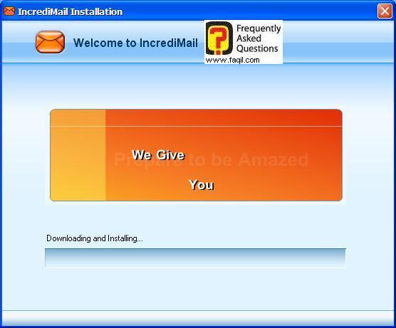 ההתקנה הושלמה , תוכנת  Incredimail