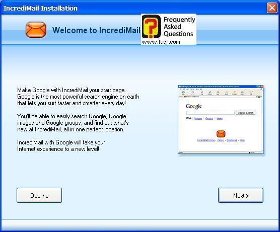תשאלו אם אתם מעוניינים בסמל התוכנה , כאשר תכנסו בגוגל , תוכנת  Incredimail