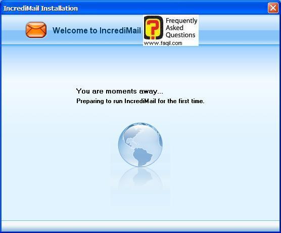 האימייל יוגדר אוטומטית בתוכנת הדואר, תוכנת  Incredimail