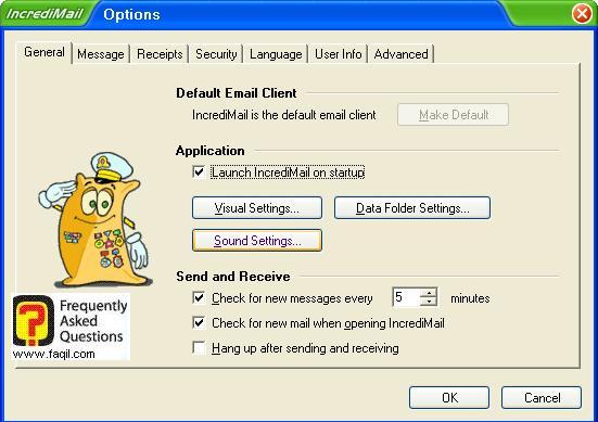 הגדרות כללי, תוכנת  Incredimail