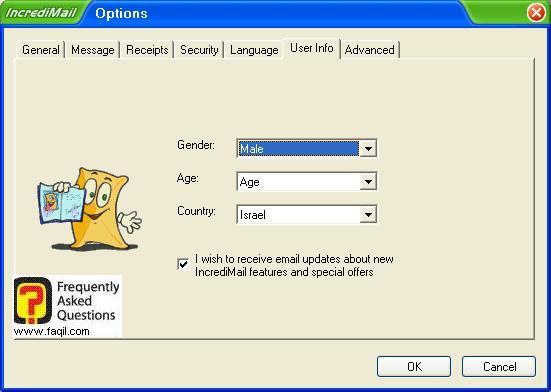 אם אתם מעוניינים בהודעות ועדכונים במייל על התוכנה , תוכנת  Incredimail