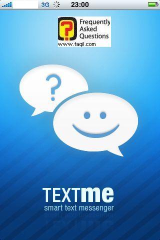 מסך הפתיחה של אפליקציית TextMe